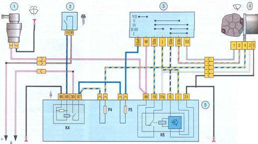 Схема электродвигателя