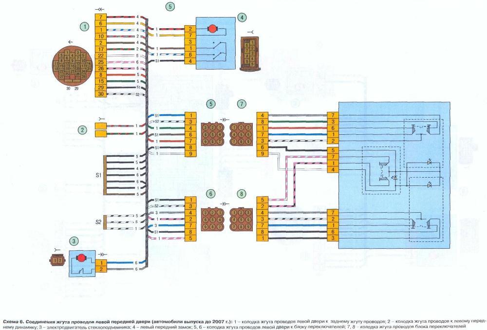 Электросхема проводки
