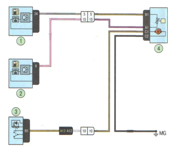 Схема подключения топливного