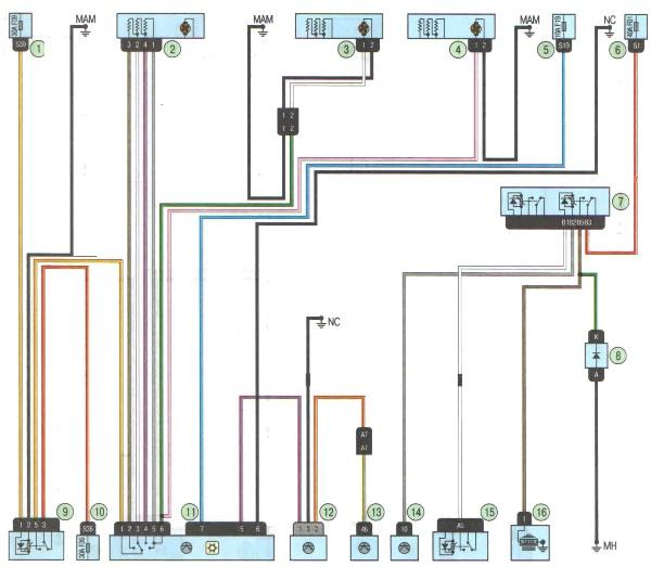 Электрическая схема отопления