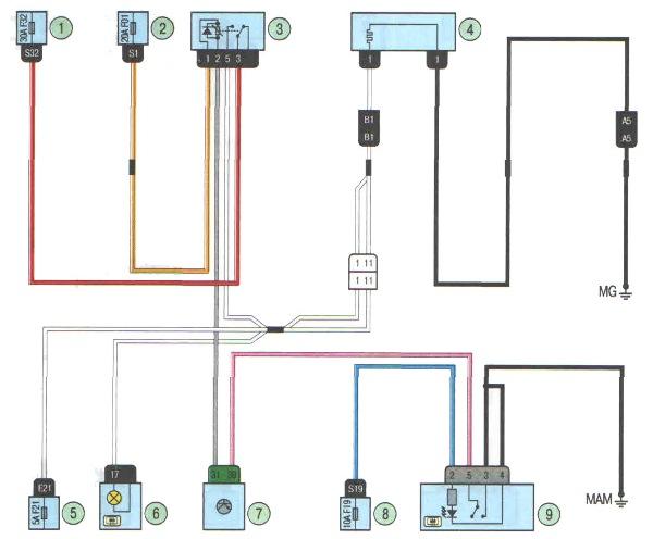 Электрическая схема обогрева