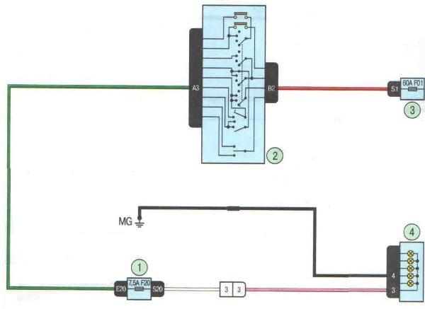 Схема подключения фар на ларгус