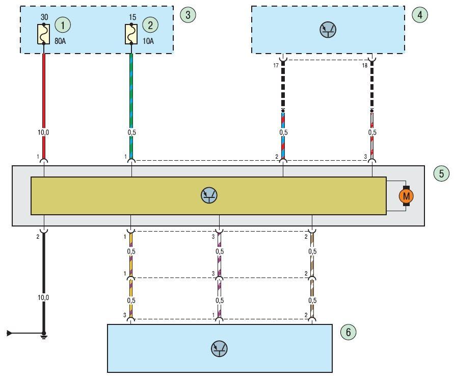 Электросхема электроусилителя