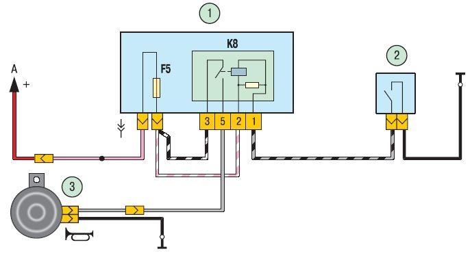 Схема подключения звукового