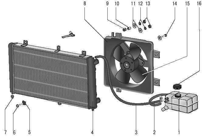 охлаждения двигателя 21126