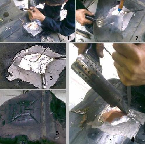 Ремонт металлического бензобака пайкой