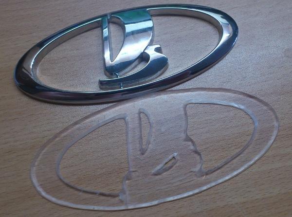 подложка из оргстекла на подсветка эмблемы авто