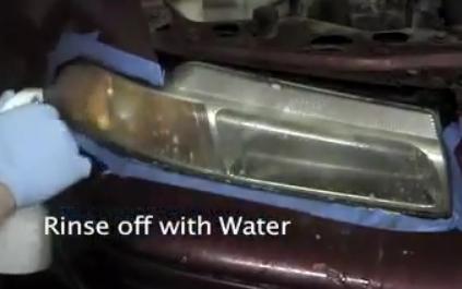 Полировка пластиковых фар.