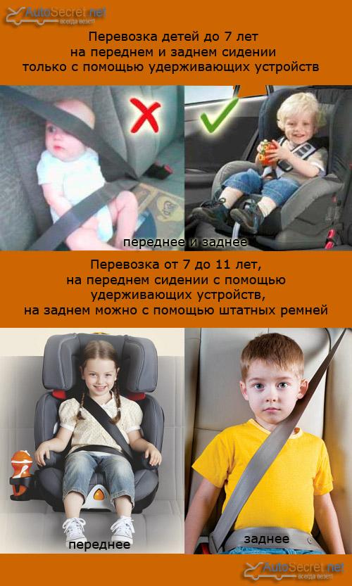 Можно ли сажать ребёнка на переднее сиденье в детском кресле пдд 61
